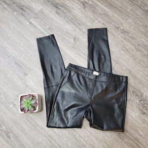 Wilfred Aritzia * Daria Ankle Pant Black Leather S